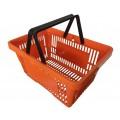 Корзинка покупательская пластиковая 20 литров (оранжевая)